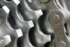 Macro Image, Rear Gear Set. Royalty Free Stock Photography
