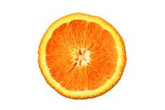 Macro image of ripe orange. Orange close up. Isolated. stock photos