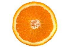 Macro image of ripe orange. Orange close up. Isolated Royalty Free Stock Image