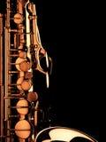 The macro image saxophone Royalty Free Stock Photography