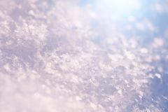 Macro image of snowflakes. Macro image of snowflakes, shallow depth of field. Beautiful winter background royalty free stock photos