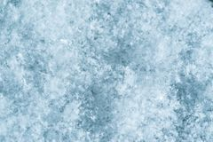 Macro image of snowflakes. Winter background. Stock Photography