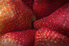 Macro Image of Strawberries Stock Photo