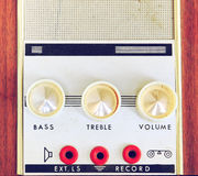 Macro image of vintage Amplifier dials Royalty Free Stock Image