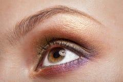 Macro image of woman eye Stock Photography
