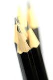 Macro immagine del primo piano delle matite nere Immagini Stock Libere da Diritti