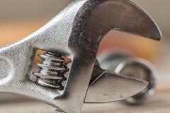 Macro immagine della testa di una chiave della mano Fotografia Stock Libera da Diritti