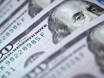 Macro immagine di nuovo dollaro della fattura Fotografie Stock Libere da Diritti