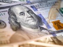 Macro immagine di nuovo dollaro della fattura Fotografia Stock