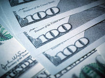 Macro immagine di nuovo dollaro della fattura Immagine Stock