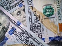 Macro immagine di nuovo dollaro della fattura Immagini Stock