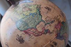 Macro immagine di una mappa dell'America immagine stock