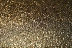 Macro immagine di vetro dorato Fotografie Stock Libere da Diritti