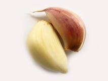 Macro immagini di riserva del singolo ed aglio multiplo Fotografia Stock