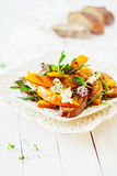 Macro insalata saporita gastronomica di estate Fotografia Stock