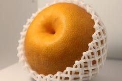 Macro of Japanese Nashi pear Stock Photography