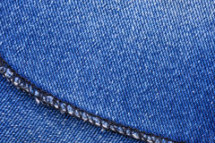 Macro of Jeans Stock Photo