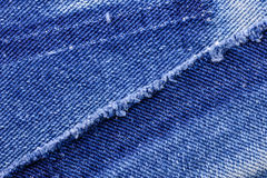 Macro of Jeans Stock Image
