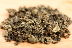 Macro of Jiaogulan tea dried leaves Royalty Free Stock Photography
