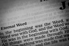Eternal Word Stock Photo