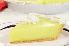 Macro key lime pie stock images