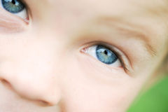 Macro kid eyes Stock Photos