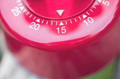 Macro Of A Kitchen Egg Timer - 15 Minutes Stock Images