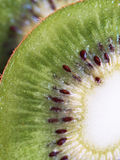 Macro kiwi-fruit. Macro close-up kiwi green sweet juicy fruit Stock Photos