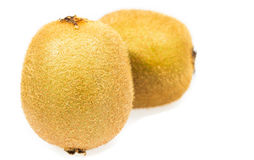 Macro Kiwi fruit isolated Stock Photo
