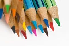 Macro kleurenpotloden Stock Foto's
