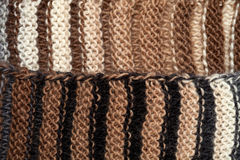 Macro knitting background Stock Photography
