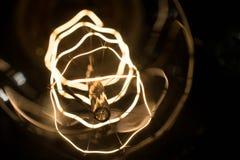 Macro lamp edison. Macro shot intricate  retro edison lamp Stock Photo