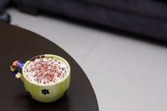 Macro Latte coffee Stock Photos
