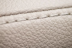 Macro leather background. Detail of car interior Stock Photo