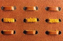 Macro leather belt Royalty Free Stock Images
