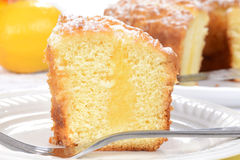 Macro lemon coffee cake Stock Photography