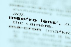 Macro Lens Royalty Free Stock Photography