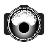 Macro lens logo. Royalty Free Stock Image