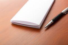 Macro of letter and pen Royalty Free Stock Images
