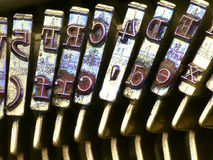Macro letters stock photos