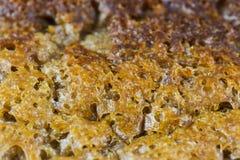 Macro libre del pan hecho en casa del gluten Imagen de archivo