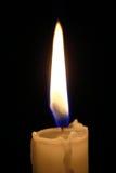 Macro ligera de la vela Imágenes de archivo libres de regalías