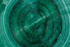 Macro Malachite mineral stone on white background. Close up royalty free stock images