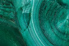 Macro Malachite mineral stone on white background. Close up royalty free stock photography