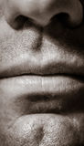 Macro Male Face Parts - Monotone Stock Photos