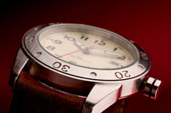 Macro of a mans wristwatch Stock Image