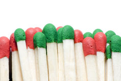 macro of matches isolated Royalty Free Stock Image