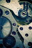 Macro Mechanical Gear Background Stock Photo