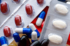 Macro of medical pills Royalty Free Stock Images