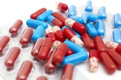 Macro of medical pills Royalty Free Stock Photos